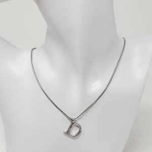 100% Authentic Dior Necklace w/ Pendant D in Metal